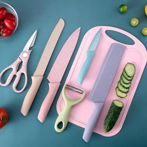 6PCS Stainless Steel Pastel Kitchenware Set